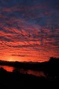 千曲川の夕日