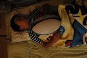 眠るハーフ