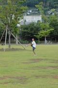 公園でラグビー練習