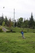 公園でラグビー