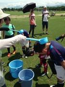 夏のラグビー練習