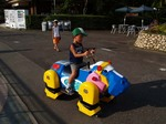 マリンパークの変な乗り物