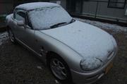 長野市内初積雪